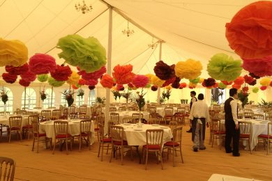 Pompoms in a 12m lined
